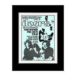 1968 The Doors In Fresno - Matted For 11x14 Frame
