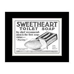 1909 Sweetheart Toilet Soap - Matted For 11x14 Frame