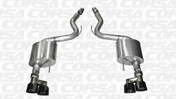 2015-2017 Mustang Gt 5.0 Coupe Corsa Sport 3 Axle-back Black Quad 4 Tips New