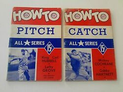 How To Play Baseball Series 1941 Lot Of 6 With Signed Brochure And Rare Poster