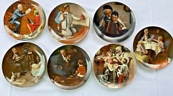 Norman Rockwell Heritage Collector Plates •knowles •lot Of 7•bradford Exchange