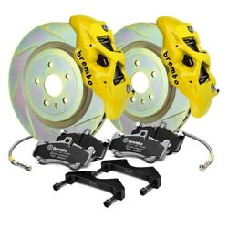 For Audi Tt 07-14 Brembo Gt Series B-m Slotted 1-piece Rotor Front Big Brake Kit
