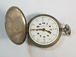 Beautiful Vintage Tavannes Watch Co Pocket Watch With Cyma Movement For Repairs