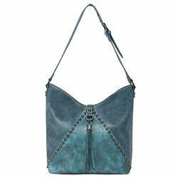 Montana West Purses Western Women#x27;s Floral Embossed Concealed Carry Hobo Bags $69.99