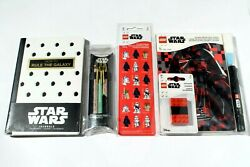 Star Wars Stationery Journals + Erasers + Stickers Ballpoint And Invisible Ink Pen