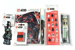 Lego Star Wars Bag Tag + Journal + Pens + Stickers + Erasers + Invisible Ink Pen