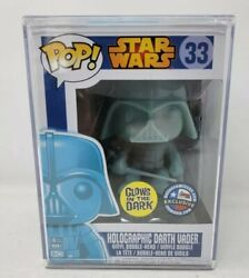 Funko Pop — Holographic Darth Vader— Dcc Exclusive — Star Wars 33 — Mint