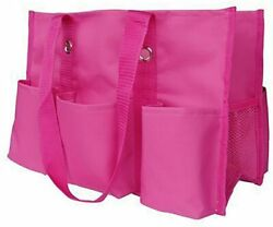 Thirty one Organizing Utility Tote Shoulder Bag Pink Beach Travel Shopping $12.99
