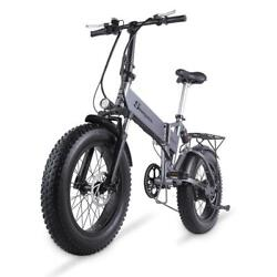 Electric Folding Bike 500w Electric Mountain Bicycle 20 Inch 4.0 Fat Tire 48v
