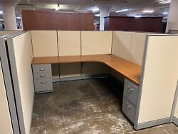 7' X 7' X 54h Cubicles / Partition System By Steelcase Kick