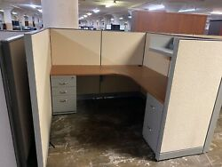 6' X 6' X 54h Cubicles / Workstations Partition System By Steelcase Kick