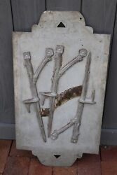 Weathervane Mold Sign Stakes Antlers Antique Makes Copper Relief Cast Metal