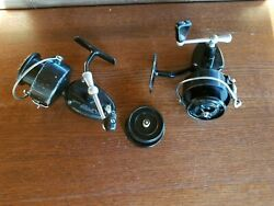 Two Vintage Garcia Mitchell 300 Spinning Reels Working Condition + Extra Spool