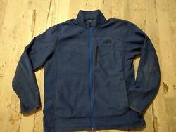 The North Face Blue Light but Warm Zip Up Polyester Jacket Men#x27;s LARGE $32.00