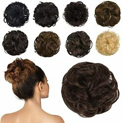 100 Human Hair Bun Extension Messy Bun Hair Piece Curly Hair Scrunchie