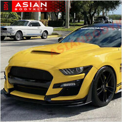 Conversion Body Kit Gt500 For Ford Mustang 2015 - 2017 Front Bumper Side Skirts