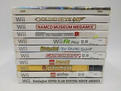 Lot Of 11 Nintendo Wii Games - Sonic Colors Scooby-doo Golden Eye Game Party