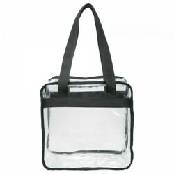 Clear Stadium Tote Bag with Zipper 12x12x6 NFL Stadium Approved $7.99