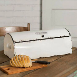 Farm House Rustic Home Decoration Vintage Style Bread Box Kitchen Display New