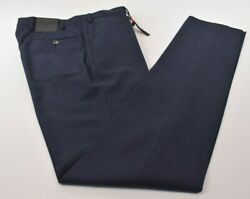 Marco Pescarolo Nwt Cashmere Blend Dress Pants In Navy 56 40 Us 895