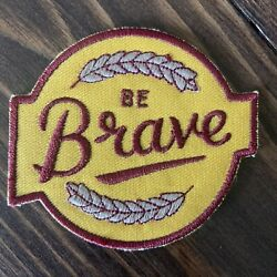 Be Brave Iron On Embroidered Patch Sew Adventure Travel Hiking Flair Accessory