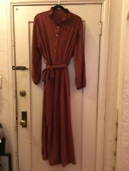 Dramatic Silky Elves In The Forest Castle Cottage Core Festival Brown Rust Wild