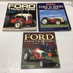 3 Ford Tractor Book Lot Ford Farm Tractors N Series Ferguson Fordson