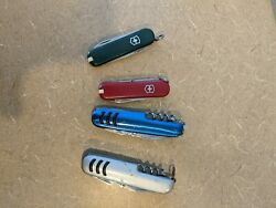 Used Swiss Army And United Pocket Knives Lot