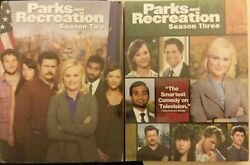 2x Lot- Parks And Recreation Second Third Seasons 2 3 Dvd Box Sets New Fr/shp