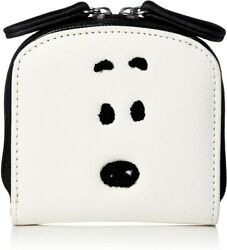 Peanuts Snoopy Face Wallet Purse Pu Leather 9.5cm Japan Limited