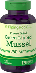 Piping Rock Green Lipped Mussel Freeze Dried - New Zealand 750 Mg 120 Capsules