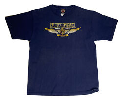 Harley-davidson Motorcycles Firefighter Since 2002 Size Large T-shirt