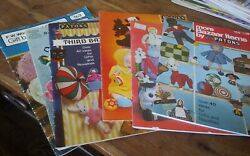 Large Lot 6 Booklets Vtg Knit Crochet Bazaar Novelties Gifts Woolworth Patons