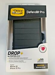 Otterbox Defender Pro Series Case And Holster Iphone 12 / 12 Pro Black Free Ship