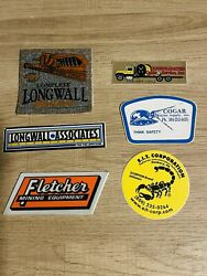 Valuable Coal Mining And Other Stickers, In Great Condition
