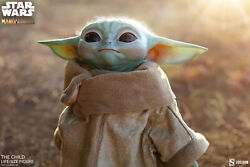Star Wars Sideshow The Child Baby Yoda Life Size Figure In Hand