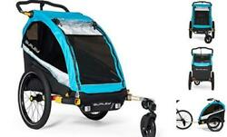 Burley Dand039lite X 1 And Kid Bike Trailer And Stroller With Seat 2 Seat Aqua