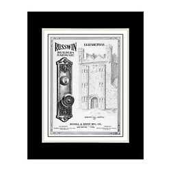 1915 Builder's Hardware Door Handles And Locks - Matted For 11x14 Frame