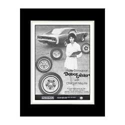 1968 Dodge Fever Contagious Cragar Mag Itis - Matted For 11x14 Frame