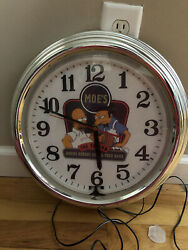 The Simpsons Wall Neon Clock - Moe's Tavern - Beer Themed