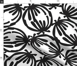 Black And White Black White Circle Large Scale Spoonflower Fabric By The Yard