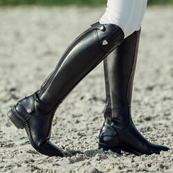Horze Duvall Womenand039s Tall Dress Riding Boots - Black Size 39w - Us 8