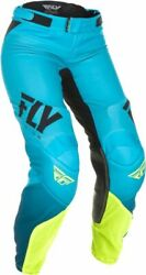 Fly Racing Womenand039 S Lite Blue//yellow Size 8/7 Pants I