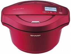 Sharp Healsio Hot Cooker Anhydrous 2.4l For 2-6 Mobile Kn-hw24c-r Ac100v Japan