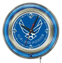 United States Air Force Clock W/ Double Neon Ring