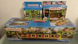 Sylvanian Families Riverside Canal Boat Other 3 Set Calico Critters Epoch W/box