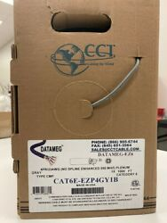 10 Boxes Of 1000ft Cat 6 Usa Made Gray 1000ft Per Box Plenum 550 Mhz 23awg