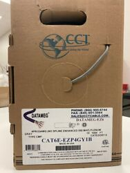 10 Boxes Of 1,000ft Cat 6 Usa Made, Gray 1,000ft Per Box Plenum 550 Mhz 23awg