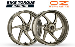 Oz Gass Rs-a Forged Alloy Wheels Ti Colour To Fit Bmw S1000rr Hp4 14-16