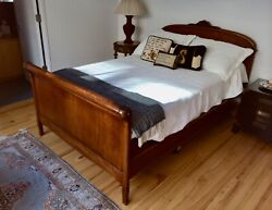 Antique Bed Frame Queen With Headboard And Footboard